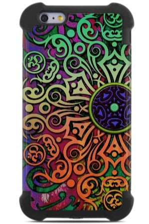 Tribal Transcendence iPhone 6 Plus - 6s Plus Case - Colorful Abstract iPhone 6 Plus SUPER BUMPER Case - iPhone 6 6s Plus SUPER BUMPER Case - Fusion Idol Arts - New Mexico Artist Christopher Beikmann