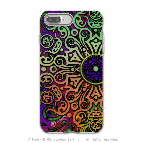 Tribal Mandala Art - Artistic iPhone 7 PLUS - 7s PLUS Tough Case - Dual Layer Protection - Tribal Transcendence - iPhone 7 Plus Tough Case - Fusion Idol Arts - New Mexico Artist Christopher Beikmann