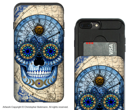 Astrologiskull-iPhone 7 Plus Card Holder Case-Astrologiskull-iPhone 7 Plus Card Holder Case-Astrologiskull-Astrologiskull-iPhone 7 Plus Card Holder Case-Astrologiskull-Apple iPhone 7 Plus - iPhone 7 Plus Card Holder Case - Fusion Idol Arts - New Mexico Artist Christopher Beikmann