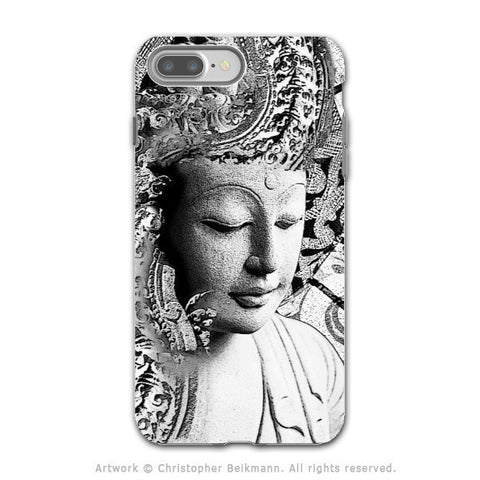 Black and White Buddha - Artistic iPhone 7 PLUS Tough Case - Dual Layer Protection - Bliss of Being - iPhone 7 Plus Tough Case - Fusion Idol Arts - New Mexico Artist Christopher Beikmann