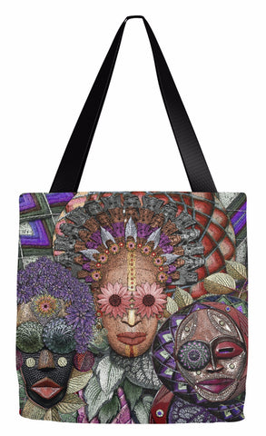 Ladies Night - Colorful Goddess Premium Tote Bag - Tote Bag - Fusion Idol Arts - New Mexico Artist Christopher Beikmann