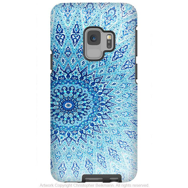 Cloud Mandala - Galaxy S9 / S9 Plus / Note 9 Tough Case - Dual Layer Protection for Samsung S9 - Blue Zen Case - Galaxy S9 / S9+ / Note 9 - Fusion Idol Arts - New Mexico Artist Christopher Beikmann
