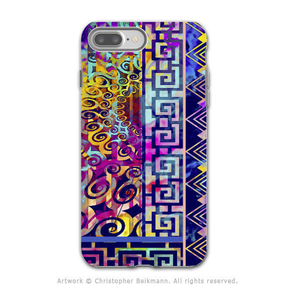 Colorful Modern Art - Artistic iPhone 7 PLUS - 7s PLUS Tough Case - Dual Layer Protection - Nouveau Boom - iPhone 7 Plus Tough Case - Fusion Idol Arts - New Mexico Artist Christopher Beikmann