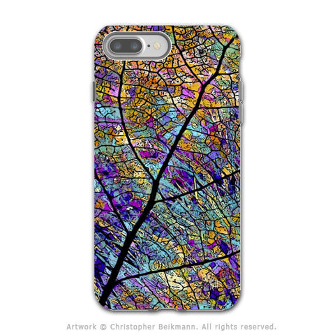 Colorful Aspen Leaf - Artistic iPhone 7 PLUS - 7s PLUS Tough Case - Dual Layer Protection - Stained Aspen - iPhone 7 Plus Tough Case - Fusion Idol Arts - New Mexico Artist Christopher Beikmann