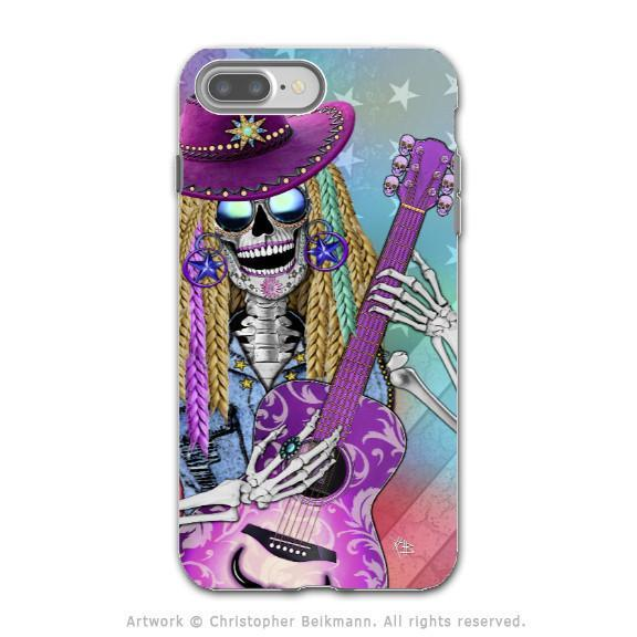 Country Girl Sugar Skull - Artistic iPhone 8 PLUS Tough Case - Dual Layer Protection - Scary Underwood - iPhone 8 Plus Tough Case - Fusion Idol Arts - New Mexico Artist Christopher Beikmann