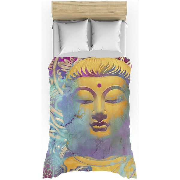 Colorful Modern Buddha Duvet Cover - Light of Truth - Duvet Cover - Fusion Idol Arts - New Mexico Artist Christopher Beikmann