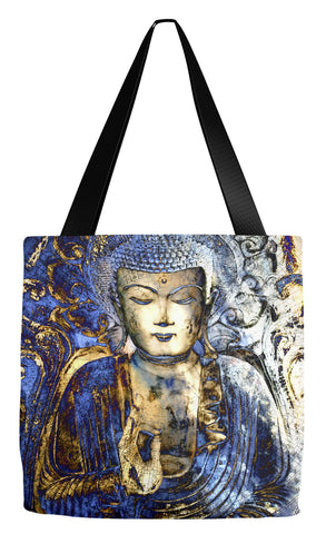 Blue Buddha Art Tote Bag - Inner Guidance - Tote Bag - Fusion Idol Arts - New Mexico Artist Christopher Beikmann