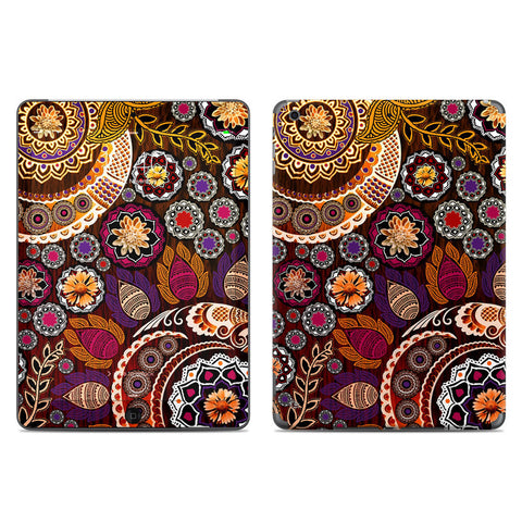 Autumn Mehndi - Fall Color Paisley Floral - iPad AIR Vinyl Skin Decal - iPad AIR 1 SKIN - Fusion Idol Arts - New Mexico Artist Christopher Beikmann