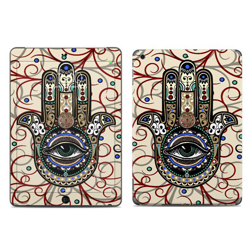 Sacred Defender Hamsa - Hamsa Hand iPad AIR Vinyl Skin Decal - Fusion Idol Arts
