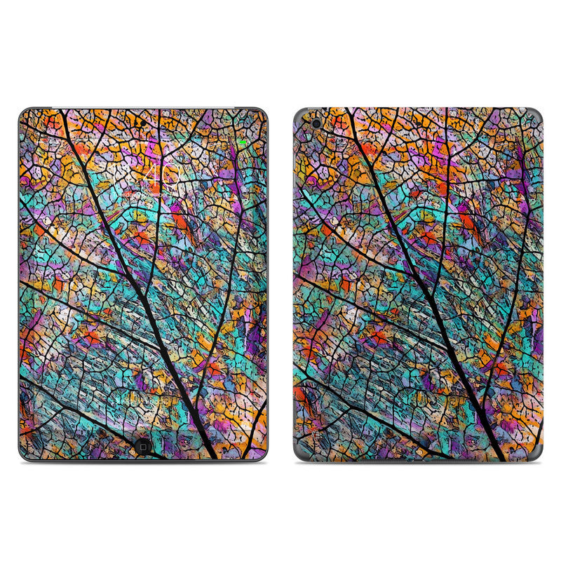 Stained Aspen - Colorful Abstract Aspen Leaf - iPad AIR Vinyl Skin Decal - Fusion Idol Arts