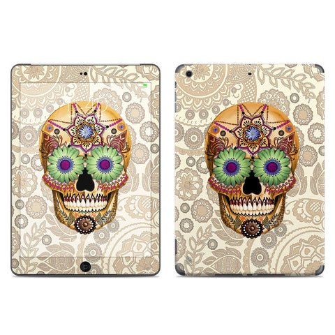 Sugar Skull Bone Paisley - Day of the Dead - iPad AIR Vinyl Skin Decal - iPad AIR 1 SKIN - Fusion Idol Arts - New Mexico Artist Christopher Beikmann