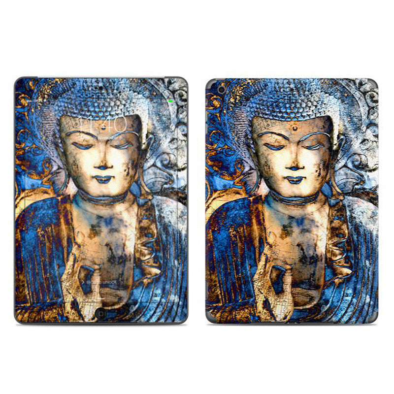 Inner Guidance - Blue Buddha - Zen iPad AIR Vinyl Skin Decal - Fusion Idol Arts