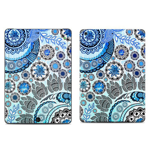 Blue Mehndi - Blue and White Paisley Floral - iPad AIR Vinyl Skin Decal - iPad AIR 1 SKIN - Fusion Idol Arts - New Mexico Artist Christopher Beikmann