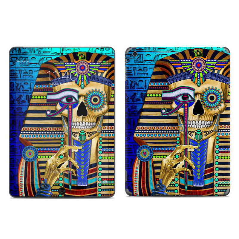 Funky Bone Pharaoh - Egyptian Sugar Skull - Day of the Dead - iPad AIR Vinyl Skin Decal - iPad AIR 1 SKIN - Fusion Idol Arts - New Mexico Artist Christopher Beikmann