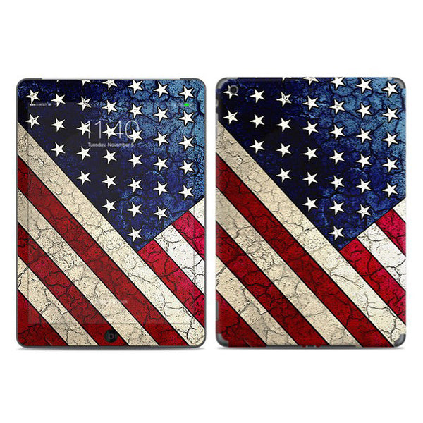 Stars & Stripes - Vintage American Flag Design - iPad AIR Vinyl Skin Decal - iPad AIR 1 SKIN - Fusion Idol Arts - New Mexico Artist Christopher Beikmann