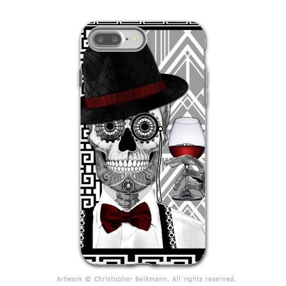 Art Deco Sugar Skull - Artistic iPhone 8 PLUS Tough Case - Dual Layer Protection - Mr JD Vanderbone - iPhone 8 Plus Tough Case - Fusion Idol Arts - New Mexico Artist Christopher Beikmann