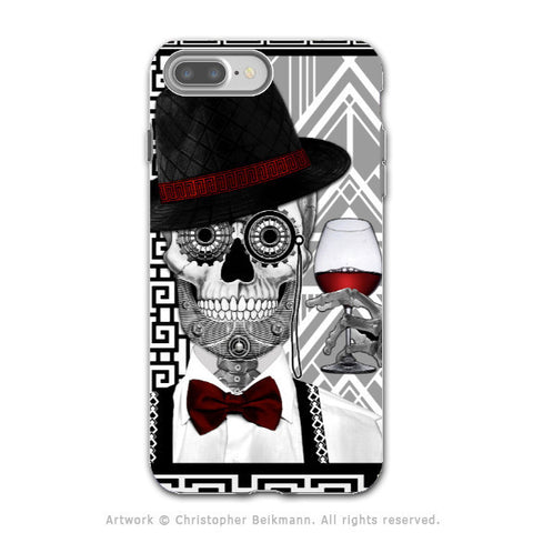 Art Deco Sugar Skull - Artistic iPhone 7 PLUS Tough Case - Dual Layer Protection - Mr JD Vanderbone - iPhone 7 Plus Tough Case - Fusion Idol Arts - New Mexico Artist Christopher Beikmann