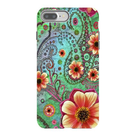 Paisley Paradise iPhone 8 PLUS Tough Case - Premium Dual Layer Protection by Da Vinci Case - iPhone 8 Plus Tough Case - Fusion Idol Arts - New Mexico Artist Christopher Beikmann