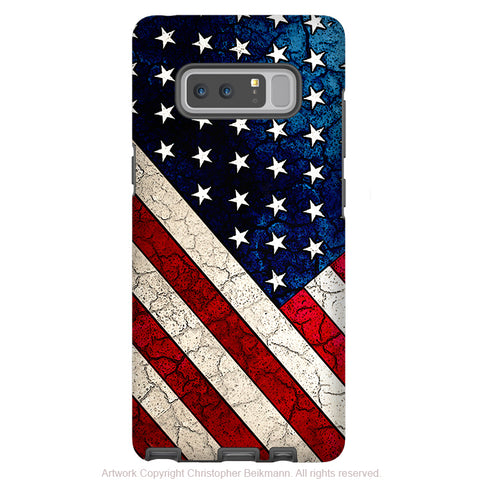 American Flag Galaxy Note 8 Case - US Flag Art Case for Samsung Galaxy Note 8 - Stars and Stripes - Galaxy Note 8 Tough Case - Fusion Idol Arts - New Mexico Artist Christopher Beikmann