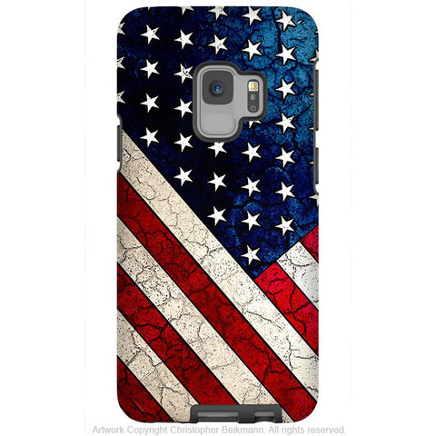 Stars and Stripes - Galaxy S9 / S9 Plus / Note 9 Tough Case - Dual Layer Protection for Samsung S9 - U.S.A - American Flag Case - Galaxy S9 / S9+ / Note 9 - Fusion Idol Arts - New Mexico Artist Christopher Beikmann