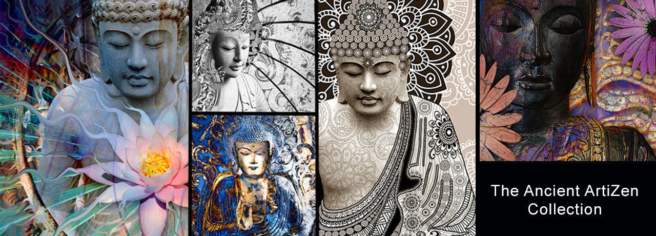 Buddha artwork by artist Christopher Beikmann