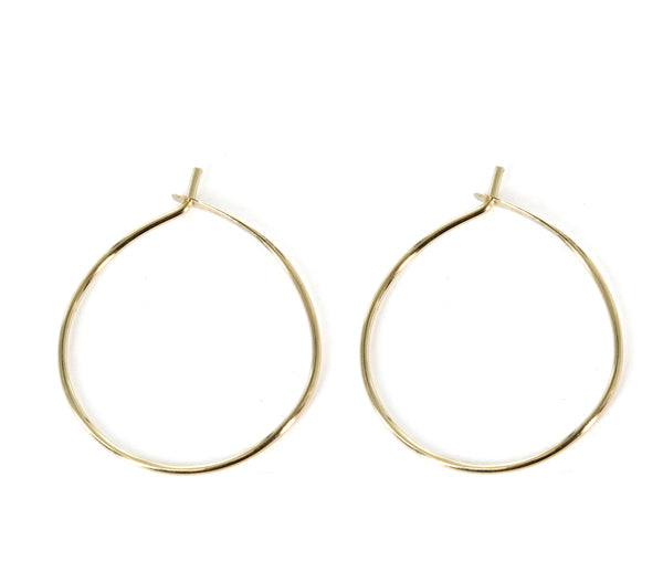 30mm Diameter Hoop Earrings