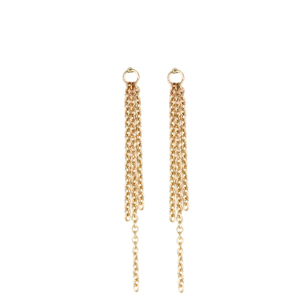 Triple Strand Chain Drop Earrings
