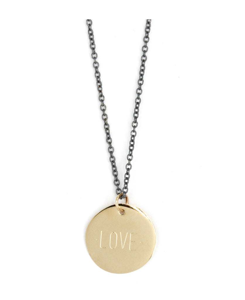 Custom Engraved Disc Pendant Necklace