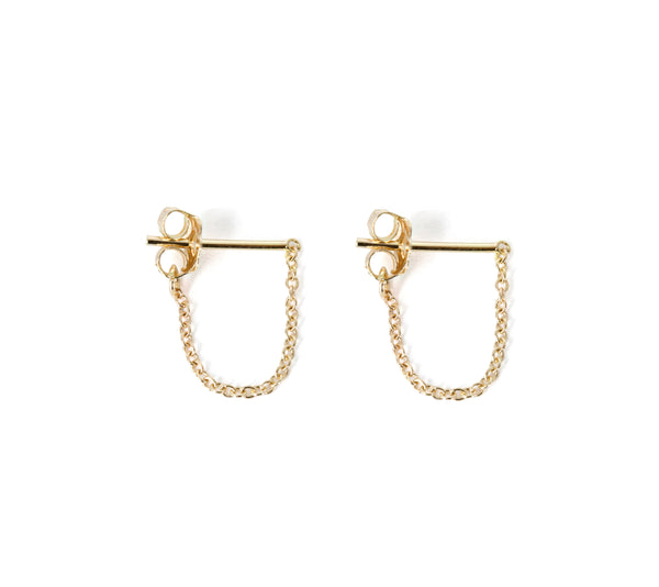 Chain Post Drop Earrings