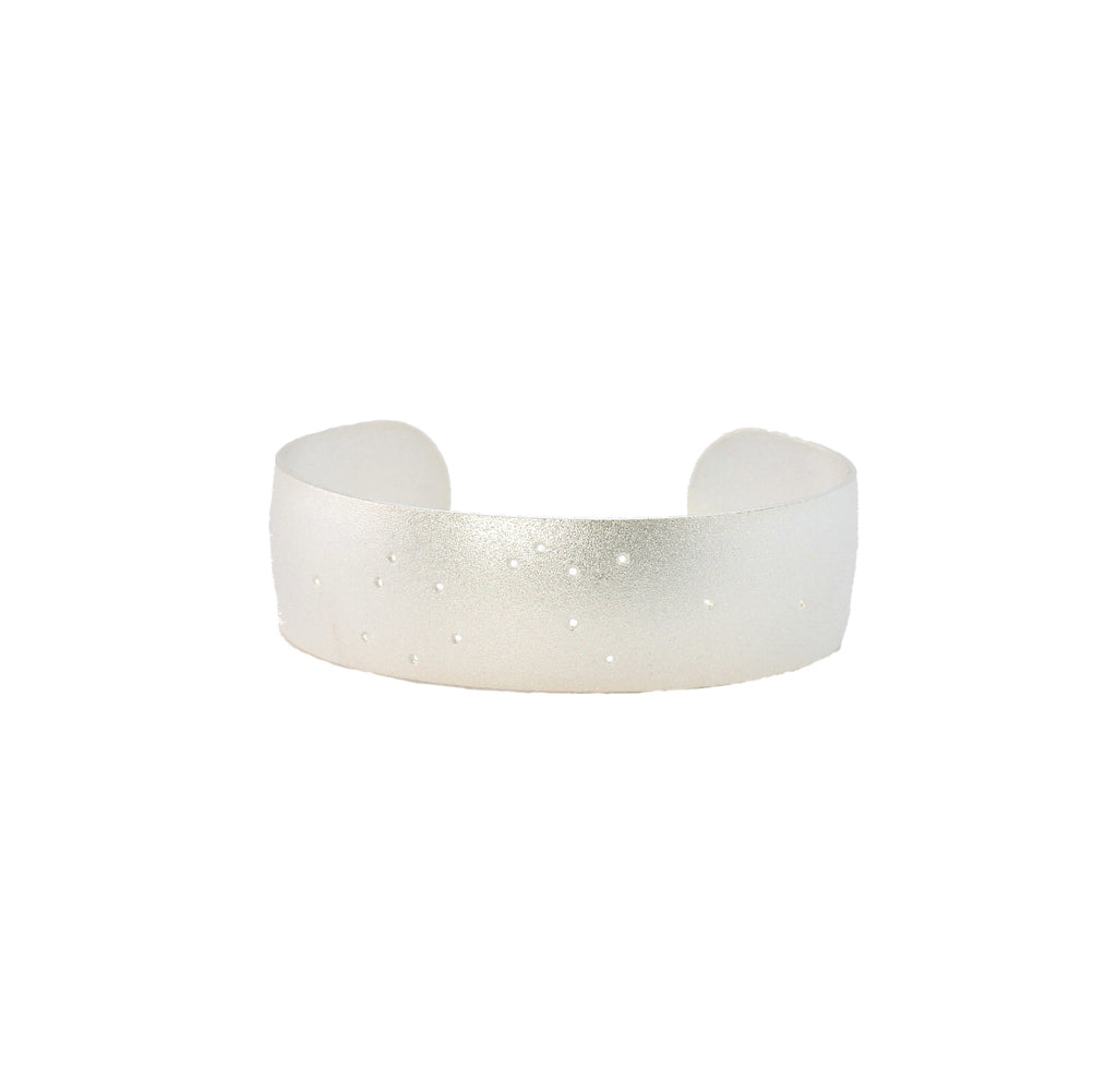 Sterling Silver Dipped Zodiac Constellation Cuff Bracelet, All 12 Signs: Aries through Pisces