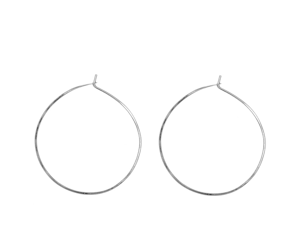 "Ann 1.25"" Smooth  Hoop Earrings"
