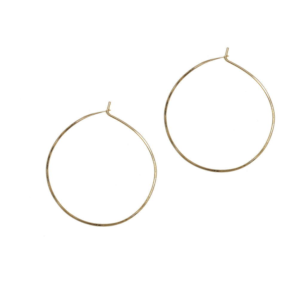 "Ann, 1.25""  Hoop Earrings"