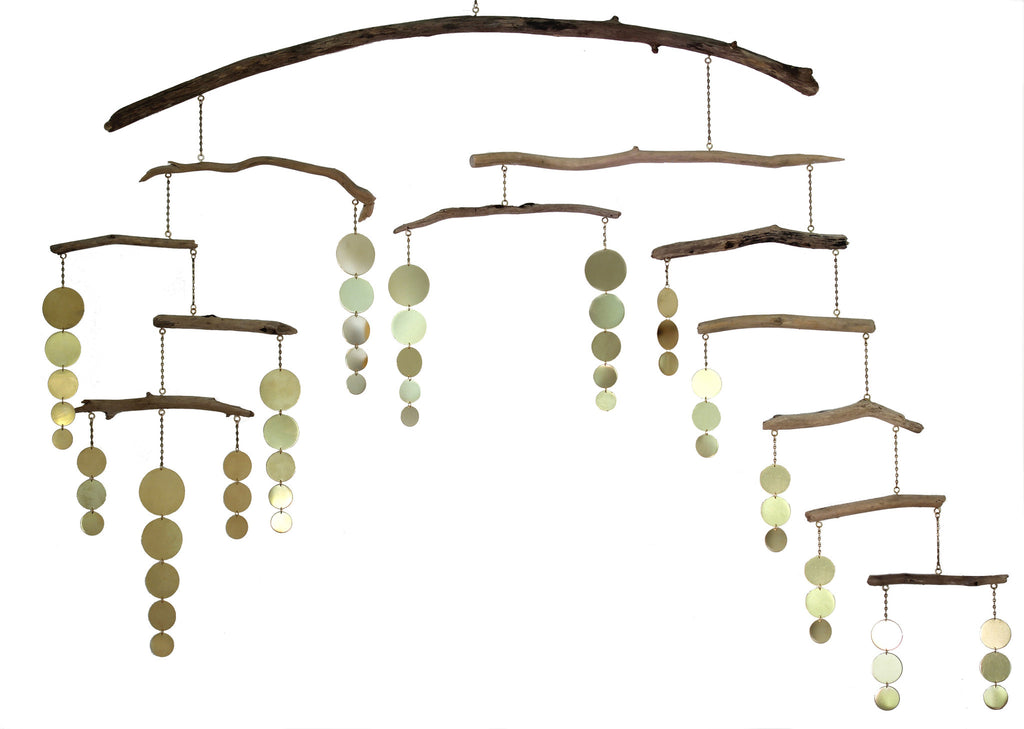 George Ligeti, 12 Branch Driftwood and Brass Mobile