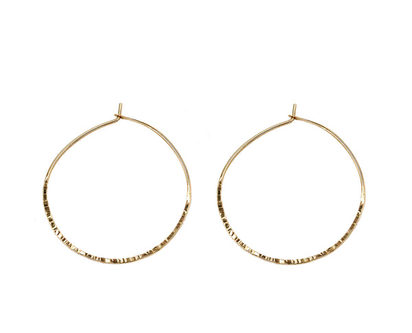 "Caitlin, 1.25"" Textured Hoop Earrings"
