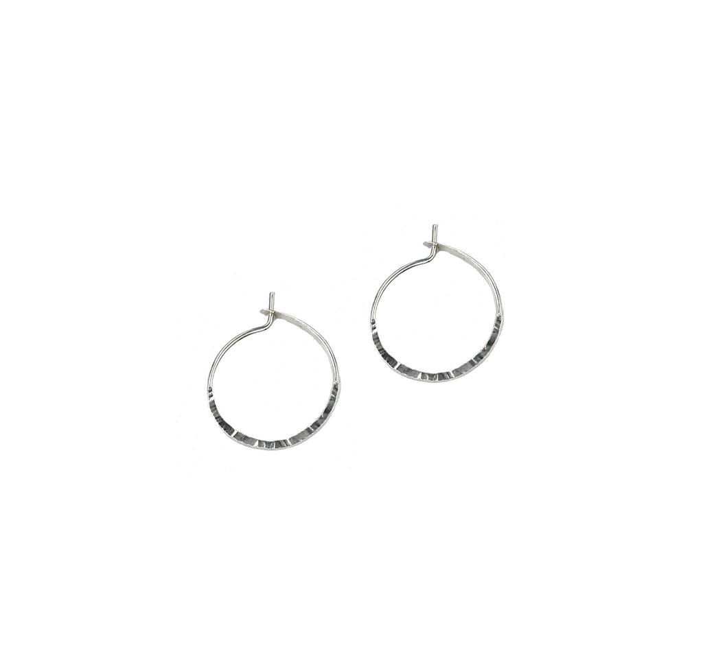"Elisa, 1/2"" Textured Hoop Earrings"