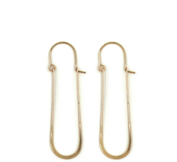 Emily, U-shaped Drop Hoop Earrings