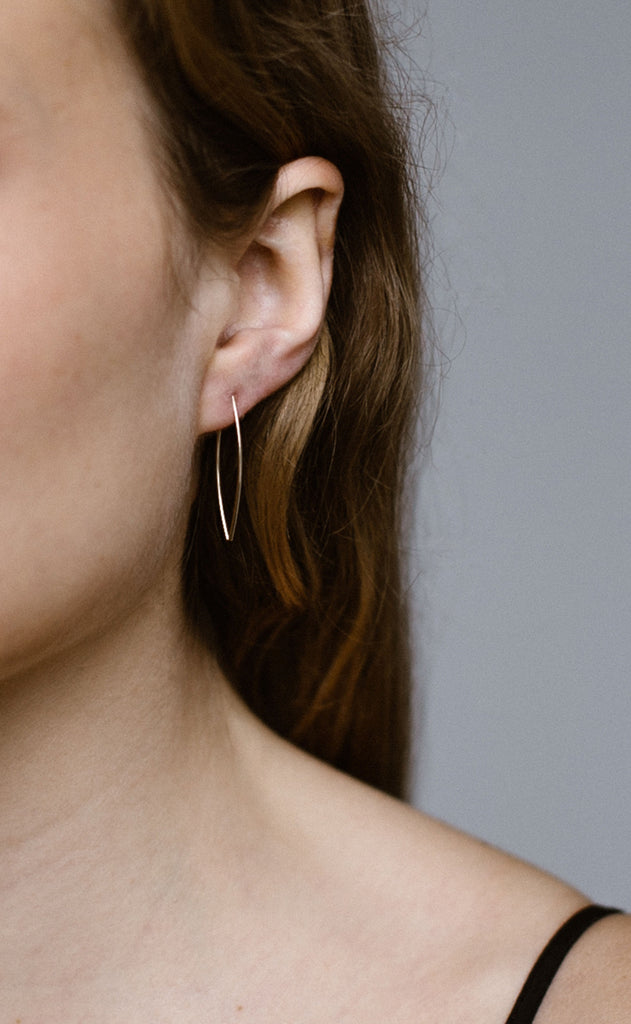 Gala, Small Wishbone Threader Earrings