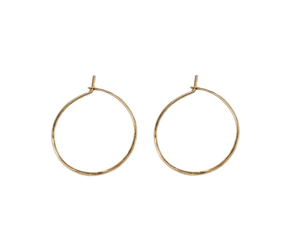 "Hannah, 1""  Smooth Hoop Earrings"