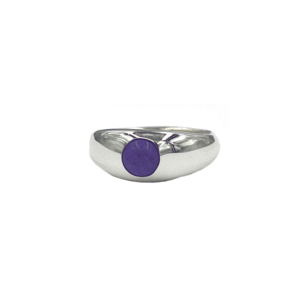 Lapis Cabochon Eye Ring