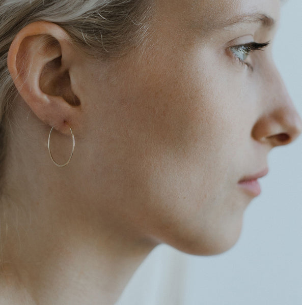 "Liz, 1"" Textured Hoop Earrings"