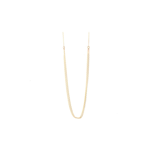 Maria, 14kt Gold Filled or Sterling Silver Thin Multi-Strand Mixed Metal Necklace