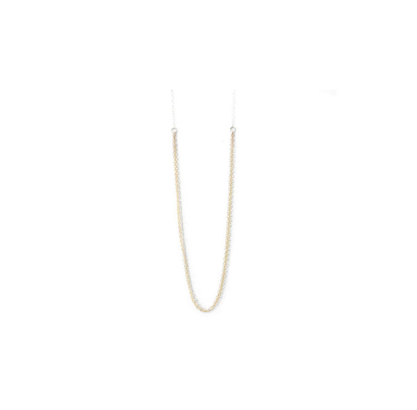 Marie, 14kt Gold Filled or Sterling Silver Thin Multi-Strand Mixed Metal Necklace