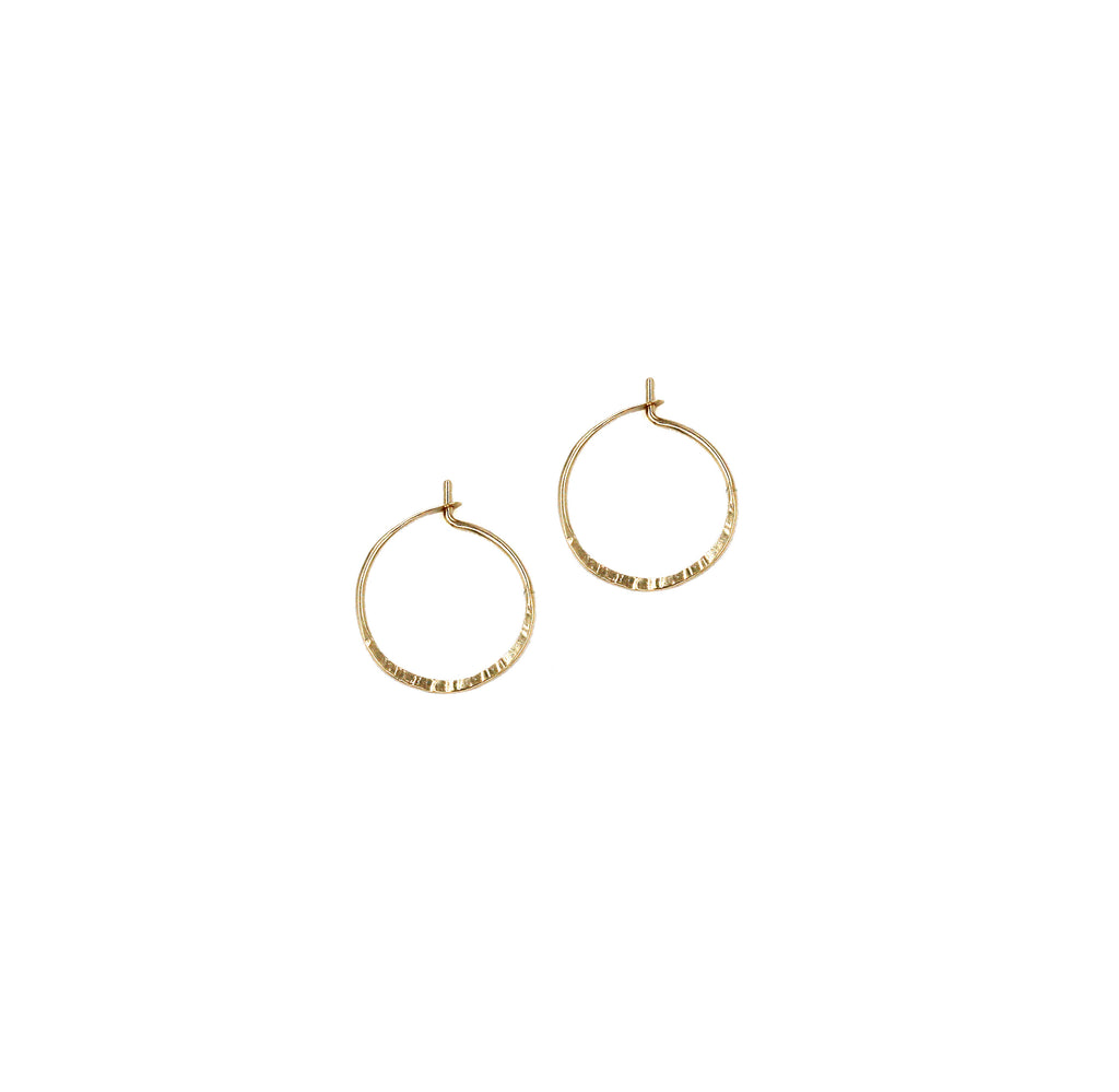 "Marin, 1/3"" Textured Hoop Earrings"