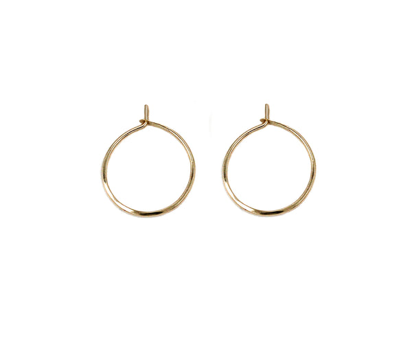 "Miriam, .75"" Smooth Hoop Earrings"