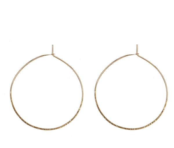 "Christine, 1.50"" Textured Hoop Earrings"