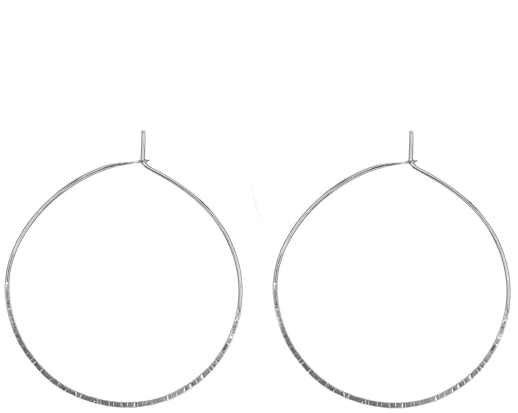 "Kathy 2"" Textured Hoop Earrings"