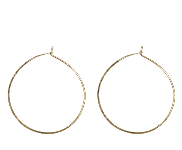 "Minga, 1.50"" Smooth Hoop Earrings"