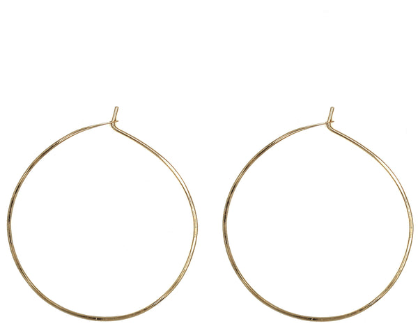 "Sharon, 2"" Smooth Hoop Earrings"