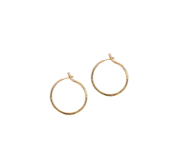 "Carmen, 1/2"" Tiny Hoop Earrings"