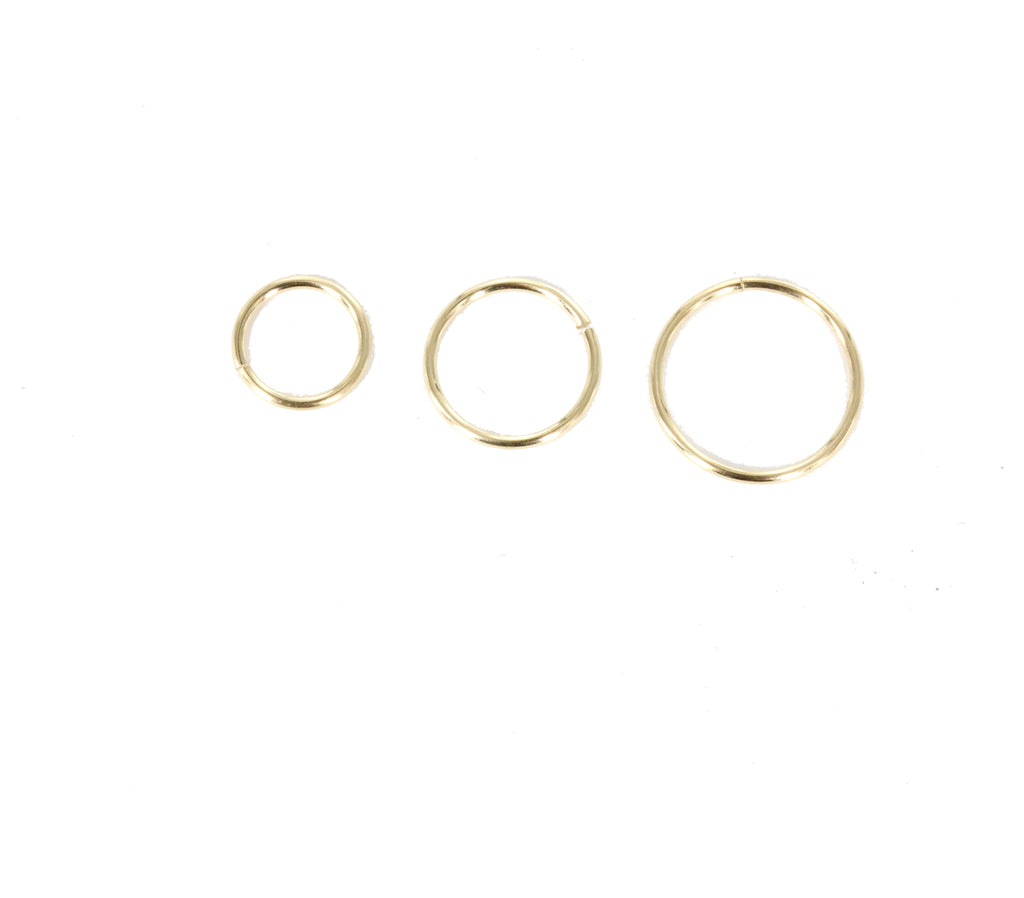 Perfect Circle Hug Hoop Earrings (with or without chain accompaniment)